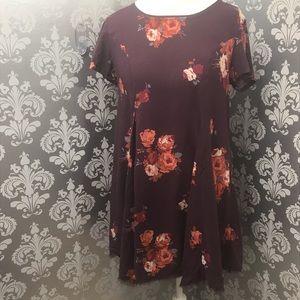 silence +noise Wine Colored Dress Size Medium